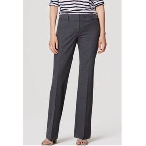 LOFT original straight leg charcoal gray trousers